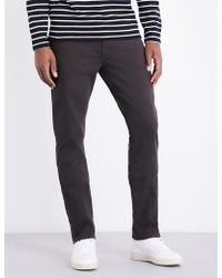 PAIGE - Federal Slim-fit Tapered Cotton Jeans - Lyst