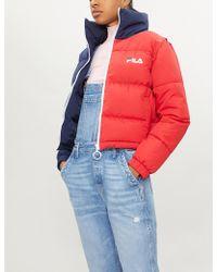 Fila - Martina Cropped Shell Puffer Jacket - Lyst