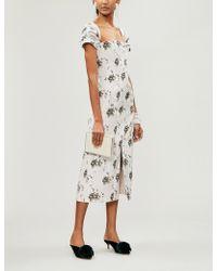 Brock Collection - Odilia Floral-print Poplin Midi Dress - Lyst