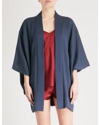 Kisshōten - Haori Silk-jacquard Kimono Robe - Lyst