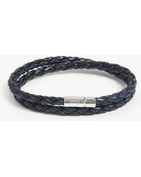 Tateossian - Scoubidou Double Wrap Leather And Sterling Silver Bracelet - Lyst