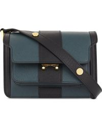 Marni - Saffiano Leather Cross-body Bag - Lyst