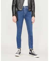 RE/DONE - Cropped High-rise Skinny Jeans - Lyst
