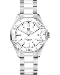 Tag Heuer - Way131h.ba0914 Aquaracer Stainless Steel And Ceramic Watch - Lyst