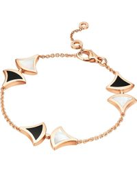BVLGARI - Divas' Dream 18kt Pink-gold And Onyx Bracelet - Lyst
