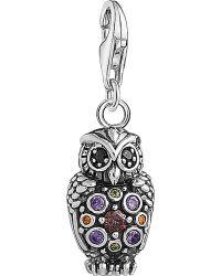 Thomas Sabo - Charm Club Sterling Silver Multistone Owl Charm - Lyst