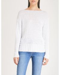 J Brand - Seascape Cable-knit Jumper - Lyst