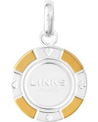 Links of London - Sterling Silver And 18-carat Gold Poker Chip Charm - Lyst