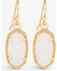 Kendra Scott - Lee 14ct Gold-plated And Gemstone Earrings - Lyst