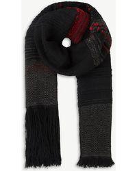 Isabel Benenato - Contrast-trim Wool Scarf - Lyst