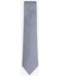 Oscar Jacobson - Houndstooth Silk Tie - Lyst