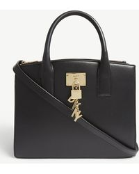 DKNY - Black M2 Elissa Grained Leather Tote Bag - Lyst