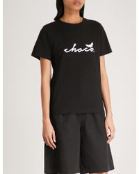Chocoolate - Logo-print Cotton-jersey T-shirt - Lyst