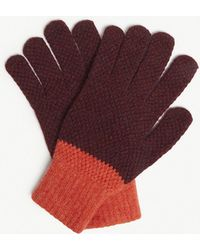 Paul Smith - Cable Knit Wool Gloves - Lyst