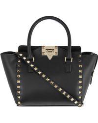 7242f4d64 Valentino - Rockstud Mini Leather Tote - Lyst