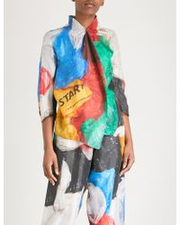 Vionnet - X Marc Quinn Plastic Bag Silk-satin Shirt - Lyst