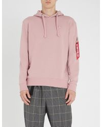 Alpha Industries - Logo-embellished Cotton-jersey Hoody - Lyst