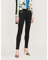 Emilio Pucci - Zip Pocket High-rise Stretch-jersey Skinny Trousers - Lyst