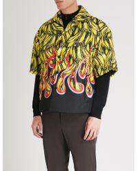 Prada - Banana-print Padded Gabardine-shell Shirt - Lyst