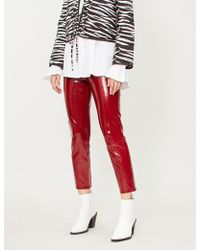 J Brand - Ruby High-rise Coated-leather Cigarette Trousers - Lyst
