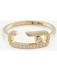 Messika - Gigi Hadid Move Addiction 18ct Yellow-gold Diamond Ring - Lyst