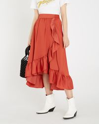 a1dddaab4e Maje Dot-embroidered Mesh Skirt in White - Lyst