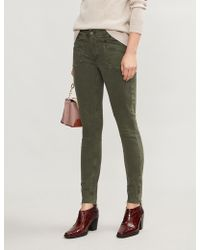 PAIGE - Utility-pocket Skinny High-rise Stretch-denim Jeans - Lyst