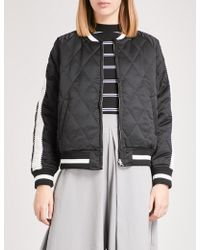 Chocoolate - Reversible Quilted Bomber Jacket - Lyst