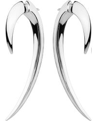 Shaun Leane - Sterling Silver Hook Earrings Size 1 - Lyst