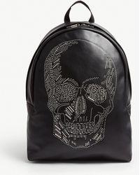 d38e2355480 Alexander McQueen - Skull Studded Leather Backpack - Lyst