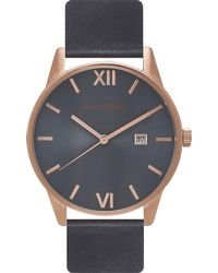 Unknown - Un14da02 The Dandy Stainless Steel And Leather Watch - Lyst