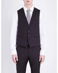 BOSS - Hugo Wilson Wool Waistcoat - Lyst