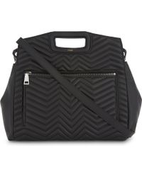 Maje | M Zigzag Quilted Leather Tote | Lyst