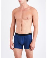 Hanro - Striped Slim-fit Stretch-cotton Trunks - Lyst