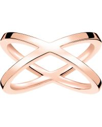 Thomas Sabo - Criss-cross 18ct Rose Gold-plated Ring - Lyst