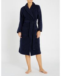 Calvin Klein - Logo Tape Cotton-terrycloth Dressing Gown - Lyst