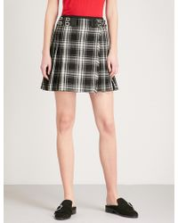 The Kooples - Checked Woven Mini Skirt - Lyst