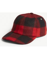 Sandro - Checked Wool Cap - Lyst