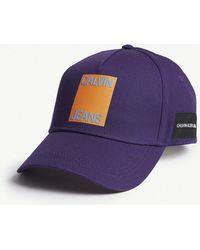 Calvin Klein - Logo Cotton Strapback Cap - Lyst