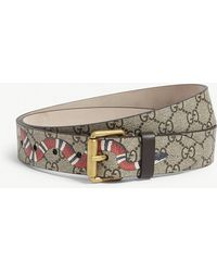 cf2821a23a1 Gucci Supreme G Buckle Belt in Natural for Men - Lyst