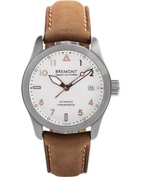 Bremont - 37rg Solo Stainless Steel And Leather Watch - Lyst