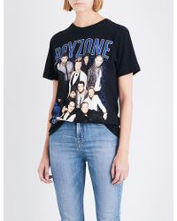Tribute Collection - Ladies Printed Exclusive Boyzone-print Cotton-jersey T-shirt - Lyst
