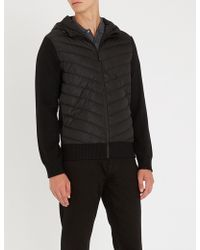 Canada Goose - Hybridge Hooded Shell-down And Wool Jacket - Lyst