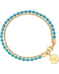 Astley Clarke - Earth Biography 18ct Gold Plated Sterling Silver Bracelet - Lyst
