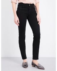 7 For All Mankind - Rozie Super-skinny High-rise Jeans - Lyst