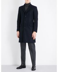 Sandro - Single-breasted Wool-blend Coat - Lyst