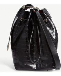 Mo&co. - Croc-embossed Bucket Bag - Lyst