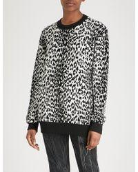 Givenchy - Leopard-pattern Wool-blend Jumper - Lyst