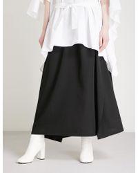 Limi Feu - Draped Wool-blend Skirt - Lyst