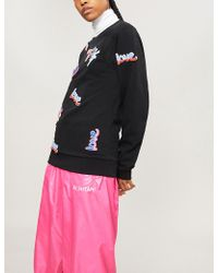 Fyodor Golan - Love-patch Cotton-jersey Sweatshirt - Lyst